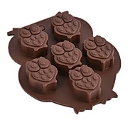 1 pc Owl Shaped Silicone Cake Mold Chocolate Mold DIY Ice Cube Tray Soap Mold Random Color