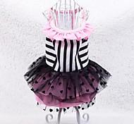 Exquisite Lace Stripe Pet Dress