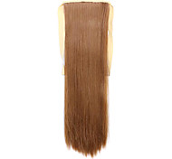Borwn Length 60CM Synthetic Bind Type Long Straight Hair Wig Horsetail(Color 27X)