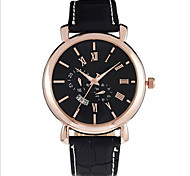 Men's Fashion Analog Leather Band Japan Quartz Watch Wrist Watch Cool Watch Unique Watch