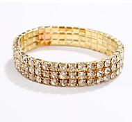 Women Fashion Gold/Silver Plated Rhinestone Bracelet