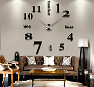 3D Crystal Acrylic Mirror Clocks wall Stickers Creative