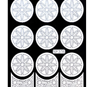 Nail Art Template Sticker-(NF314-WHITE)