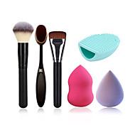 pincel de pó pincel de maquiagem escova fundação escova de limpeza ovo e esponja de maquiagem (começa a água pode tornar-se maior)