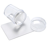 The New Manicure Seal Transparent Silicone Seals With Cover + Short Blade
