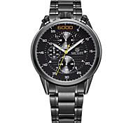 Masculino Relógio de Pulso Quartz LED / Calendário / Relógio Casual / Cronômetro Aço Inoxidável Banda Preta marca