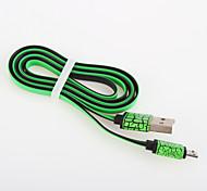 USB 2.0 Plano Aluminio Cables 100cm
