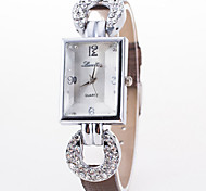 Women's Fashion Square Diamond Luxury Watch Cool Watches Unique Watches