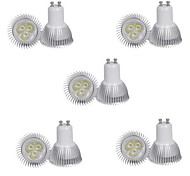 10pcs 3W GU10 350LM Warm/Cool White Color Light LED Spot Lights(85-265V)