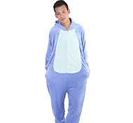 Kigurumi Pajamas Stitch / Monster Leotard/Onesie Halloween Animal Sleepwear Blue Patchwork Flannel Kigurumi UnisexHalloween / Christmas /