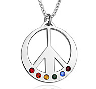 Unisex Fashion Rainbow Titanium Pendant for Necklace