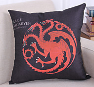 Game of Thrones Style Linen Pillowcase  Home Decor pillow Cover (18*18inch)