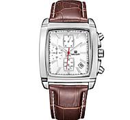 MEGIR® Men's Leather Band 30M Water Resistant Dress Fashion Wrist Watch Jewelry Cool Watch