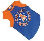 Perros Camiseta Azul Ropa para Perro Verano Letra y Número / Estrellas