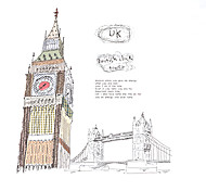 DIY Hand Painted UK Elizabeth Tower Big Ben Wall Stickers