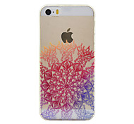 For iPhone 5 Case Transparent / Pattern Case Back Cover Case Mandala Soft TPU for iPhone 7 Plus / iPhone 7 / iPhone SE/5s/5