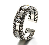 Unisex Vintage Pattern Hollow Heart Punk Antique Sterling Silver Ring Band Rings Daily / Casual 1pc