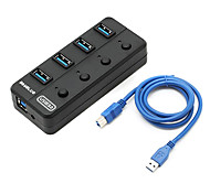 USB 3.0 4 Ports/Interface USB Hub with Separate Switch 13*3.5*1.5