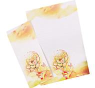 suculentas carta set envelope (3 envelope 6 artigos de papelaria, artigos de papelaria envelope 8,6 * 17,6 centímetros, 17 * 24