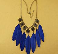 Azul Real / Negro Collares Declaración Diario / Casual 1 pieza Joyas
