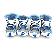 Socken & Schuhe für Hunde Rot / Grün / Orange Frühling/Herbst Fasergemisch / Baumwolle