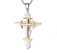Men's Fashion Cross Style Titanium Pendant for Necklace