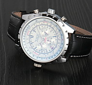 Men's Auto-Mechanical Calendar Leather Band Watch Wrist Watch Cool Watch Unique Watch Fashion Watch
