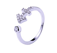 Ring Adjustable Wedding / Party / Daily / Casual Jewelry Silver / Sterling Silver Couple Rings 1pc,Adjustable Silver