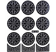 Nail Art Template Sticker-(NF316-Black)