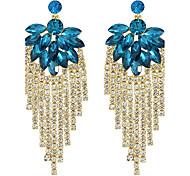 Elegant Beautiful Rhinestone Long Earrings