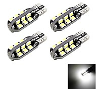 T10 8W LED Car Clearance Reading Light White 6000K 24-SMD (4PCS)