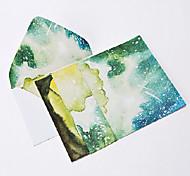 aguarela noite letra conjunto envelope (2 envelope 4 artigos de papelaria, artigos de papelaria envelope 16,2 * 11,4 centímetros, 15,9 *