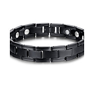 Men's Jewelry Health Care Black Titanium Steel Magnetic Therapy Bracelet Fashion  Jewelry Christmas Gifts
