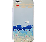 Soft TPU Case With 3D Printing Pattern For iPhone 6/ iPhone 6s/ iPhone 6 plus/ iPhone 6s plus Cat Blue