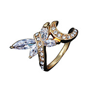 Drangonfly design Christmas Gift lady vintage casual Statement Ring