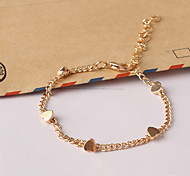 Women's New European Style Fashion Fresh Simple Heart Charm Bracelets