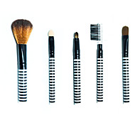 Makeup Brushes Set Mink Hair / Nylon / Others Professional / Travel / Full Coverage / Limits bacteria / Portable Metal