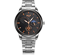 Men's Wrist watch Water Resistant / Water Proof Casual Watch Quartz Stainless Steel Band Silver