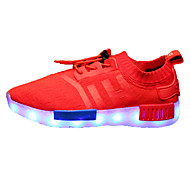 Boys' Shoes Wedding / Athletic /Fashion Sneakers / Boat Shoes Black / Blue / Red / LED Shoes
