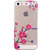 For iPhone 5 Case Transparent / Pattern Case Back Cover Case Flower Soft TPU iPhone 7 Plus / iPhone 7 / iPhone SE/5s/5