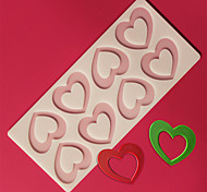 8 Hole Love Heart Shape Chocolate Plugin Mold for Cake Decoration Baking Mold Silicone Material