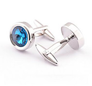 Men's Fashion Blue Stone Alloy French Shirt Cufflinks (1-Pair)