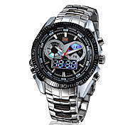 Men's Multifunctional Two Time Zones Luxury 50M Water Resistant Sports Wrist Watches(Assorted Colors) Cool Watch Unique Watch