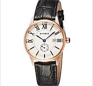 Men's Date Japan Quartz Leather Watch Wrist Watch Cool Watch Unique Watch