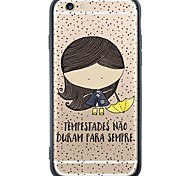 iPhone 6s Plus/6/iPhone 6s/6 TPU Soft  Little Girl Back Cover