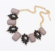 Necklace Collar Necklaces Jewelry Party / Casual Fashion Alloy / Acrylic Beige / Black / Blue / Green 1pc Gift