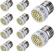 3W E26/E27 Focos LED T 24 SMD 2835 300 lm Blanco Cálido / Blanco Fresco Decorativa AC 100-240 V 10 piezas