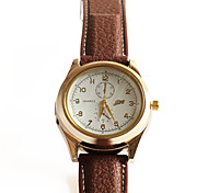 Men's Fashion Watch Digital Watch / Quartz Digital PU Band Cool Brown