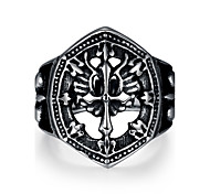 Ring Jewelry Steel Cross Fashion Black Jewelry Casual 1pc