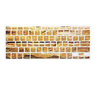New Wood Grain Pattern Silicone Keyboard Cover for Macbook Air 13.3/Macbook Pro 13.3 15.4,US version